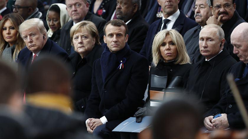 """""""Patriotismo é o exacto oposto de nacionalismo"""", diz Macron para mais de 100 chefes de Estado"""