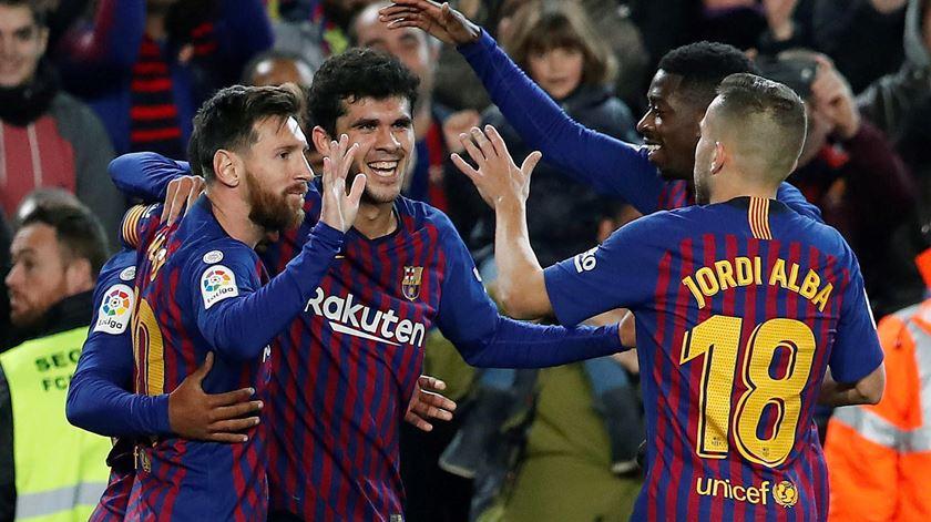 Carles Alena marcou pelo Barça. Foto: Alberto Estevez/EPA