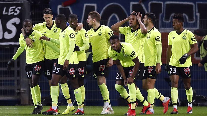 Lille empatou mas ainda é segunda em França
