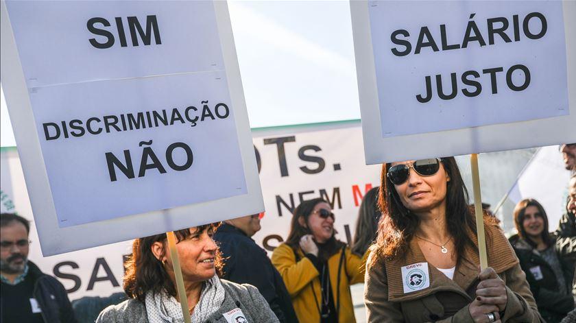 Manifestação de técnicos diagnóstico e terapêutica em Lisboa, em Dezembro de 2018. Foto: Rita Queiroz/Lusa
