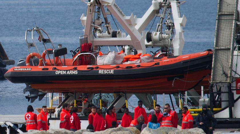 """O """"Open Arms"""" atraca em Algeciras Foto: A. Carrasco Ragel/EPA"""