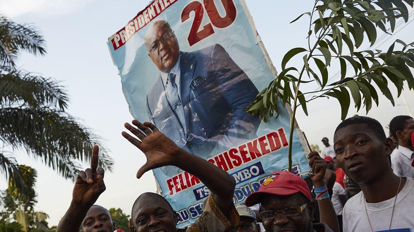 Tshisekedi foi declarado o vencedor das eleições, mas os bispos desconfiam dos resultados oficiais. Foto: Hugh Kinsella Cunningham/EPA