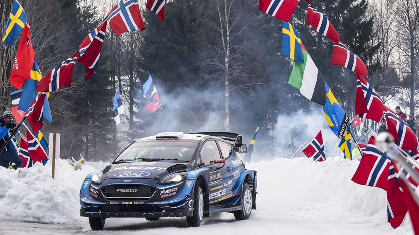 Suninen lidera rali da Suécia