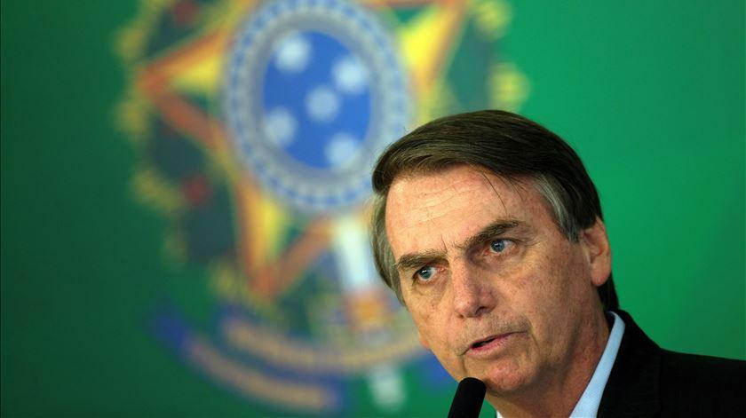Jair Bolsonaro está há 100 dias na presidência do Brasil. Foto: Joédson Alves/EPA