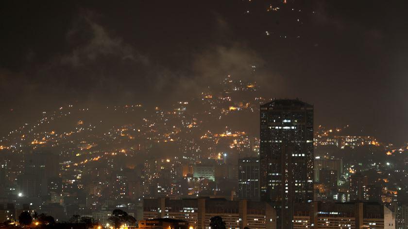 As imagens do apagão na Venezuela