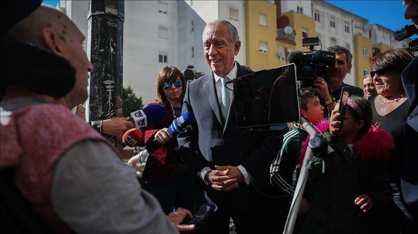 Marcelo Rebelo de Sousa na inauguração das novas instalações da Associação Portuguesa de Esclerose Lateral Amiotrófica. Foto: Mário Cruz/Lusa