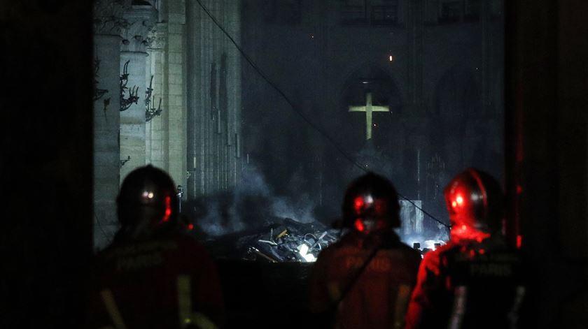 As primeiras imagens do interior de Notre Dame após o incêndio
