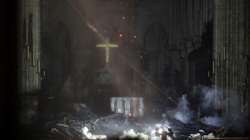 Fogo na catedral de Notre Dame está extinto