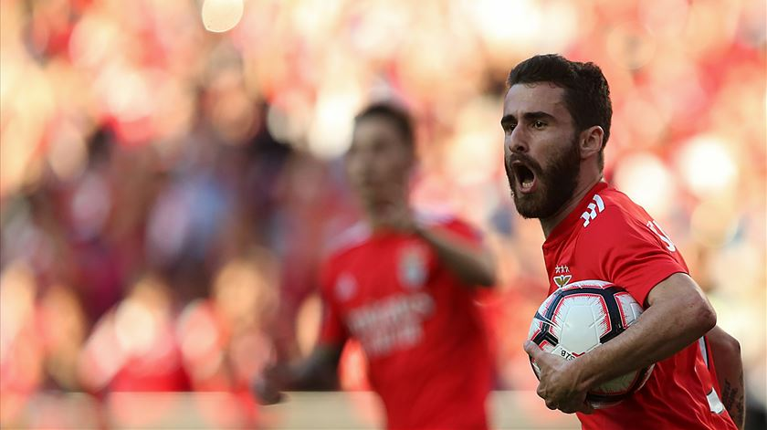 Rafa Silva está a fazer a melhor época desde que chegou ao Benfica. Foto: Manuel de Almeida/Lusa