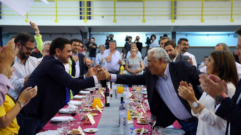 Pedro Marques e António Costa. Foto: Nuno Veiga/Lusa.