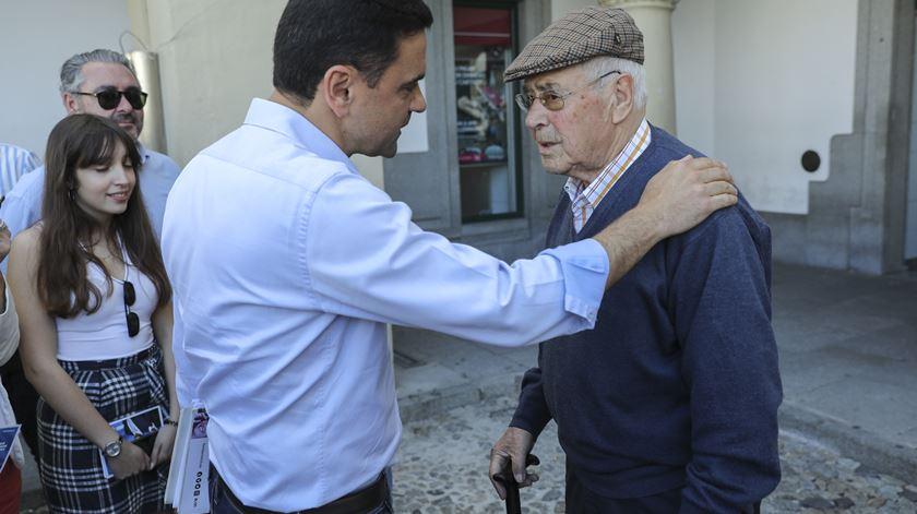 Cabeça de lista do PS às eleições Europeias em Évora. Foto: Miguel A. Lopes/ Lusa