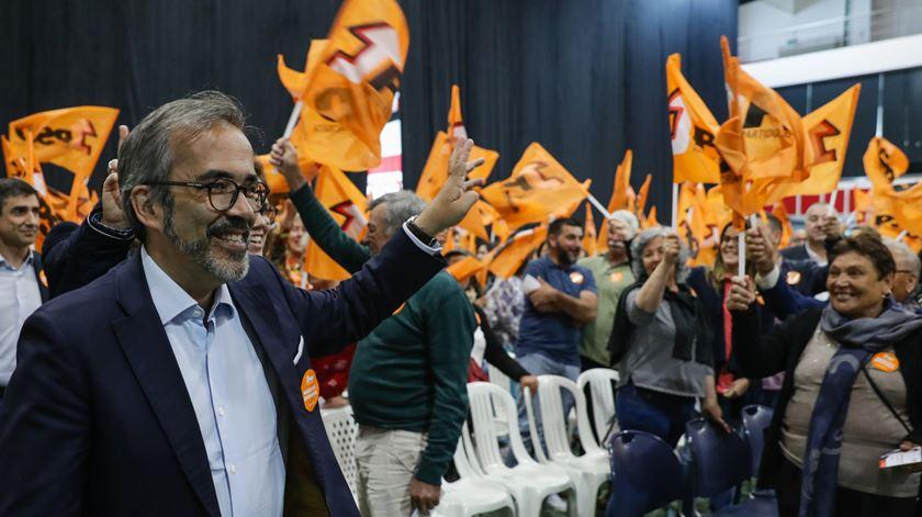 Paulo Rangel cabeça de lista do PSD às europeias num evento de campanha em Sernancelhe. Foto: Tiago Petinga/Lusa