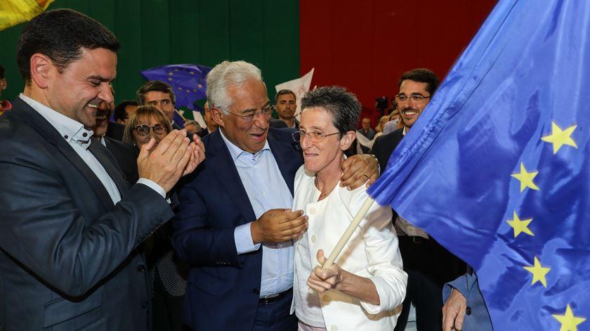 Rosa Mota foi apoiar o PS no comício de Matosinhos. Foto: Miguel A. Lopes/Lusa