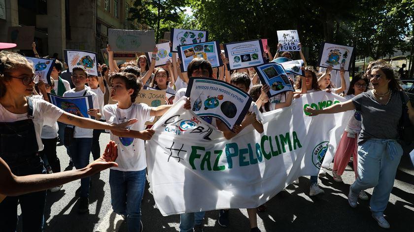 Manifestação em Coimbra. Foto: Paulo Novais/LUSA