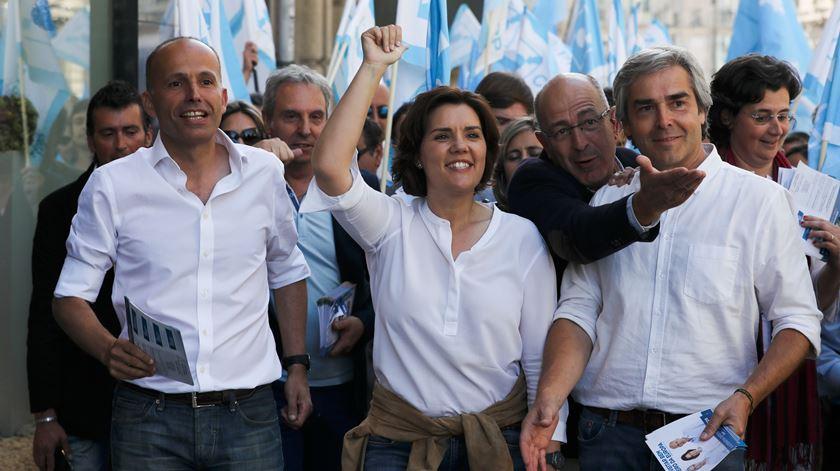 """Europeias. Assunção Cristas faz apelo ao voto no CDS, contra o """"inimigo"""" abstenção"""