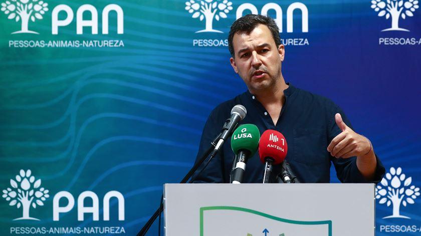 André Silva, do Partido Pessoas Animais e Natureza (PAN). Foto: António Cotrim/EPA