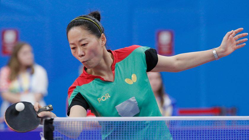 Fu Yu sem palavras após o ouro de ténis de mesa em Minsk