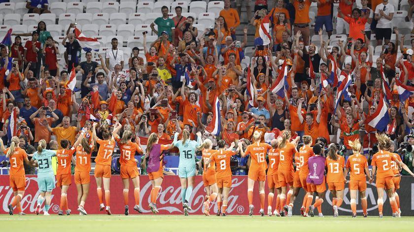 Holandeses chegaram à final do Mundial. Foto: Sebastien Nogier/EPA