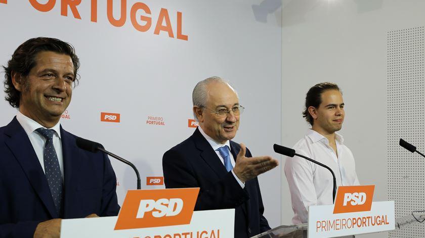 Salvador Malheiro, Rui Rio e Hugo Carvalho apresentaram novo capítulo do programa eleitoral. Foto: João Relvas/Lusa