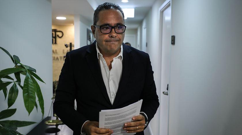 Pedro Pardal Henriques,  do Sindicato de Motoristas de Matérias Perigosas. Foto: Miguel A. Lopes