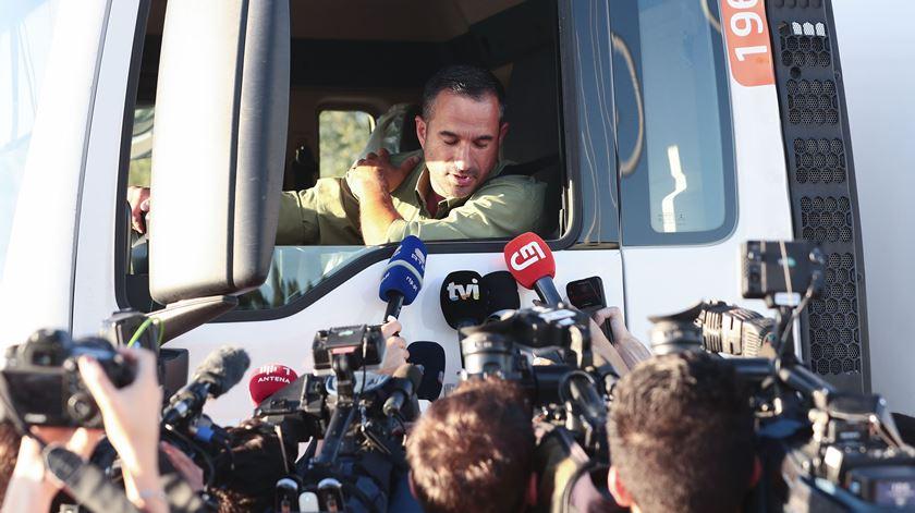 Anibal Cartaxo, um dos motoristas em causa. Foto: António Cotrim/Lusa