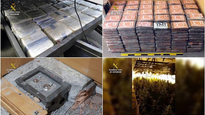Polícias de Espanha e Portugal desmantelam rede de tráfico de cocaína