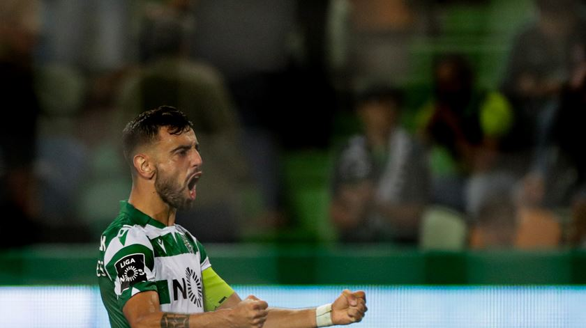 Bruno Fernandes, Sporting, golo. Foto: Tiago Petinga/EPA