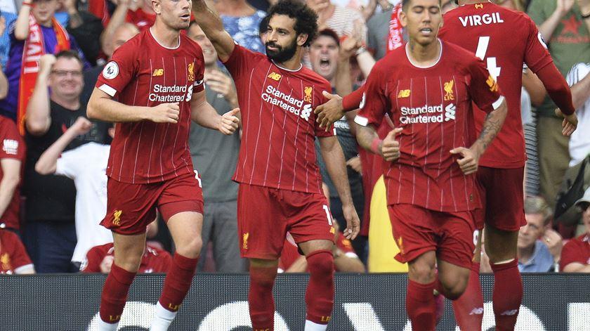 Salah, Liverpool. Foto: Peter Powell/EPA