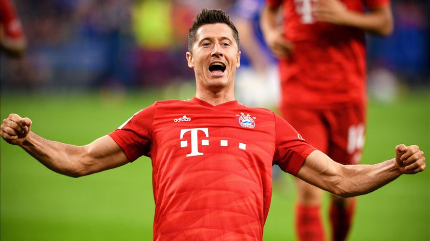 Robert Lewandowski, Bayern Munique. Foto: Sascha Steinbach/EPA
