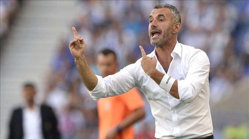 Ivo Vieira levou o Vitória de Guimarães à fase de grupos da Liga Europa. Foto: Fernando Veludo/Lusa