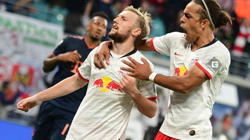 Leipzig empata com campeão alemão antes de visitar a Luz