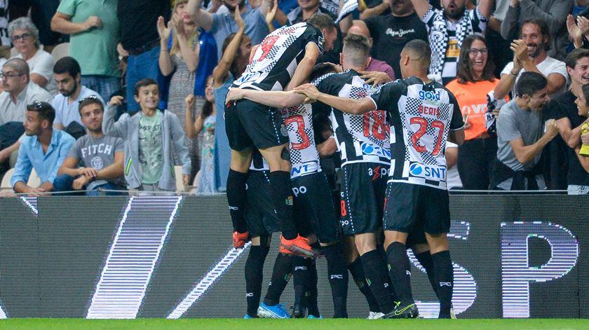 Marlon marca pelo Boavista. Foto: Fernando Veludo/Lusa