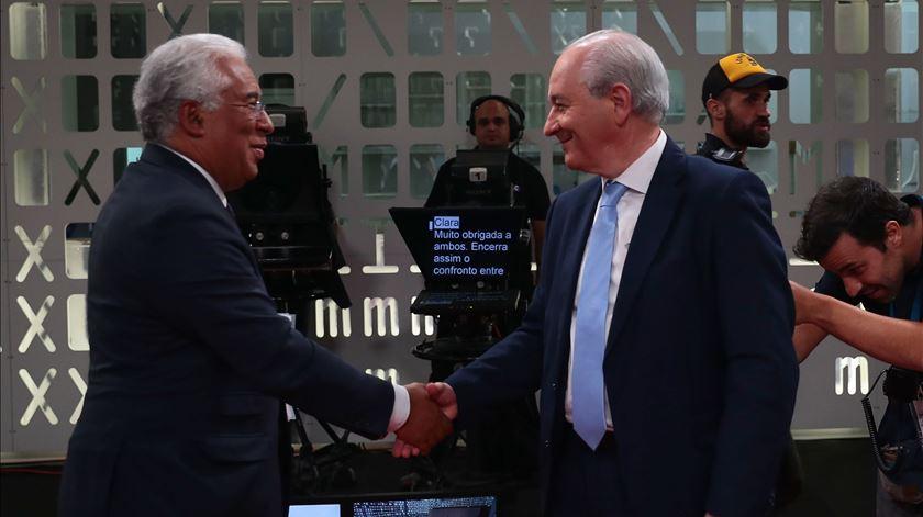 António Costa e Rui Rio debatem nas rádios esta segunda-feira