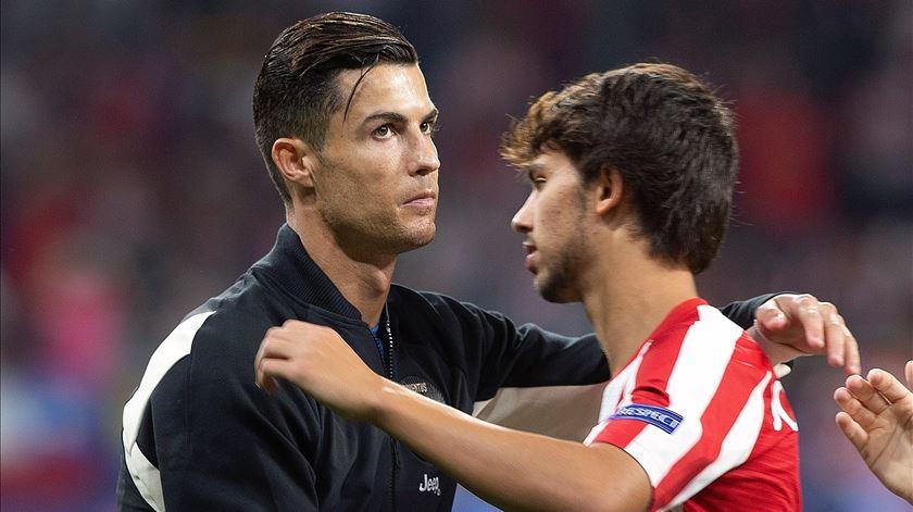 Atlético e Juventus empatam a dois, sem golos de Félix e Ronaldo