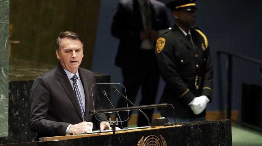 """""""Amazónia não está a ser devastada nem consumida pelo fogo"""", diz Bolsonaro na ONU"""