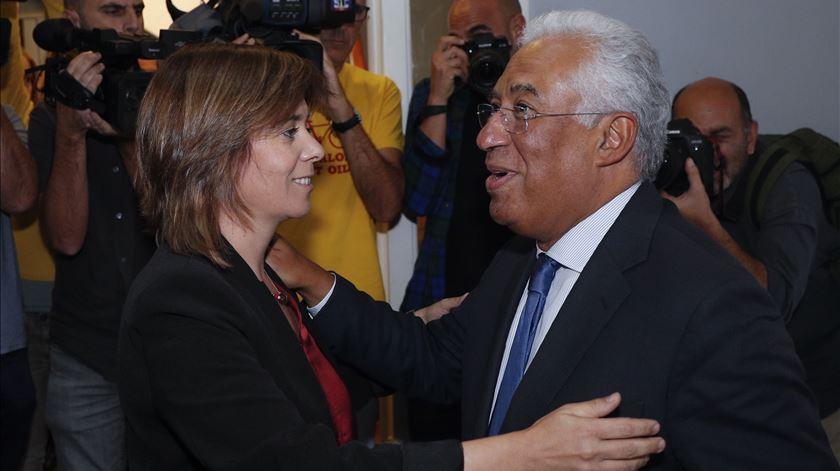 António Costa e Catarina Martins. Foto: António Cotrim/Lusa
