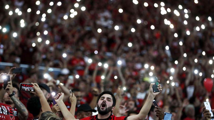 As imagens dos festejos do Flamengo em noite de vitória histórica