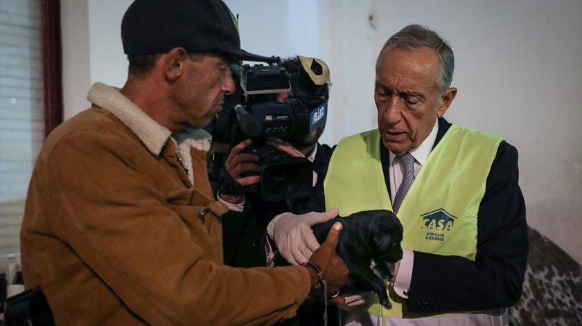 Marcelo vai debater estratégia para os sem-abrigo com o Governo