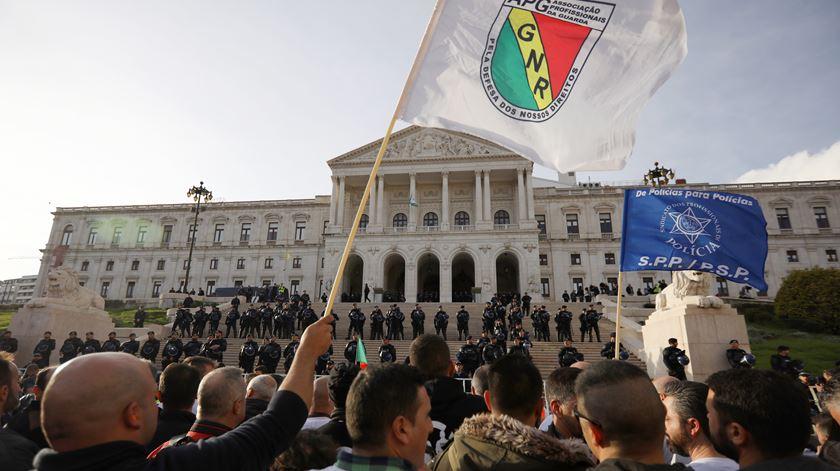 PSP e GNR unidas em protestos mensais para pressionar o Governo