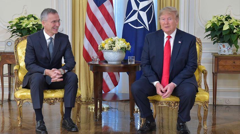 """NATO suscita polémica entre Trump e Macron. """"É uma declaração muito desagradável"""""""