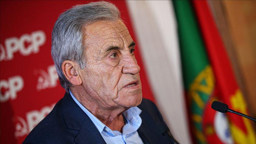 """Líder do PCP quer 2020 com """"esperança que incentiva a luta"""""""