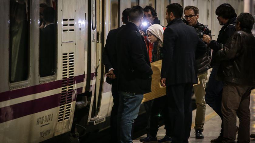Adeus, Lisboa. Greta Thunberg já viaja de comboio para Madrid