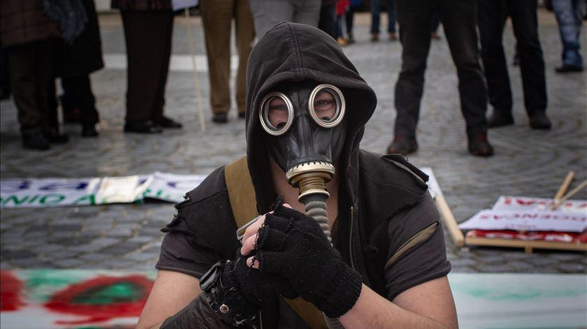 Manifestação contras minas de lítio, em Montalegre. Foto: Pedro Sarmento Costa/Lusa