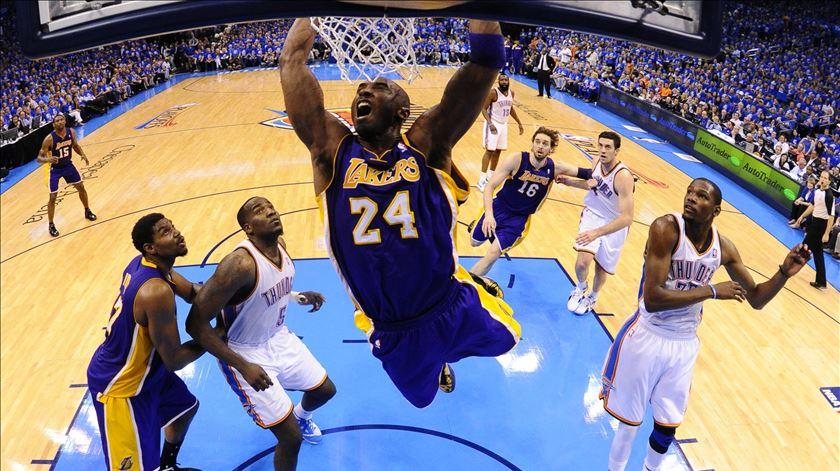 Kobe Bryant, o príncipe da NBA que deu tudo pelo basquetebol