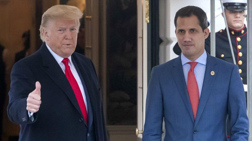 """Guaidó foi à Casa Branca agradecer """"compromisso"""" de Trump com """"a liberdade da Venezuela"""""""
