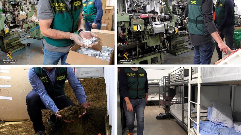 Bunker subterrâneo escondia fábrica ilegal de tabaco em Espanha