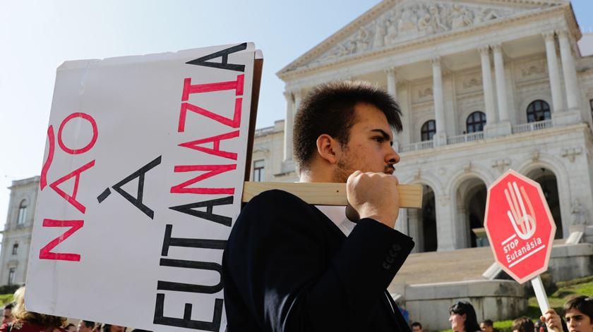 Manifestação Não à eutanásia Foto: Tiago Petinga/ Lusa