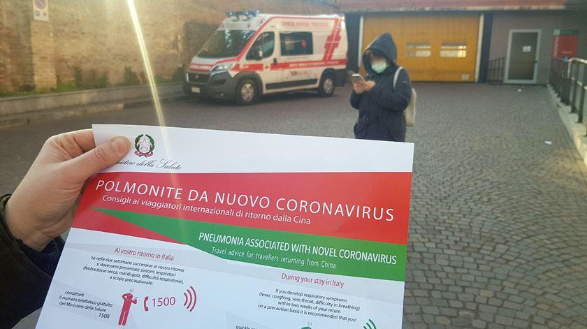 Itália. Várias localidades em isolamento devido a surto de coronavírus