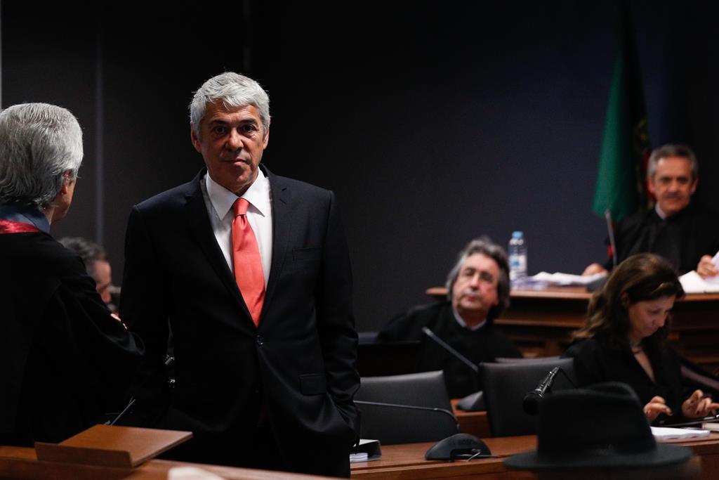 José Sócrates durante o debate instrutório da Operação Marquês. Foto: António Cotrim/Lusa