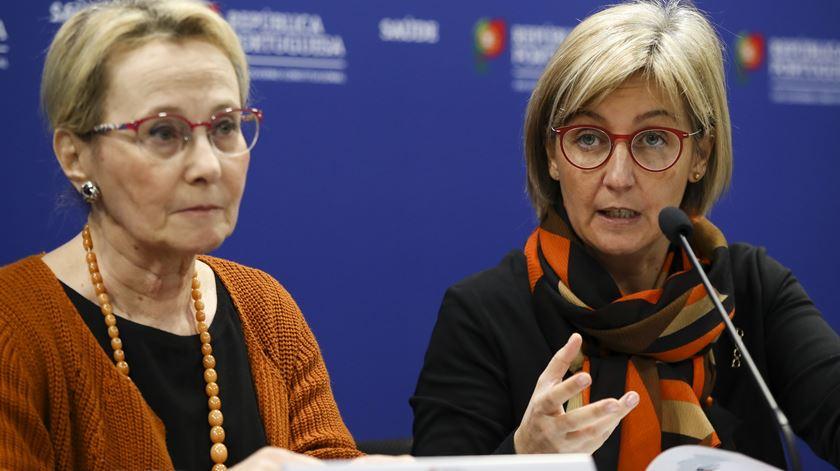 Graça Freitas e Marta Temido. Foto: Manuel de Almeida/Lusa